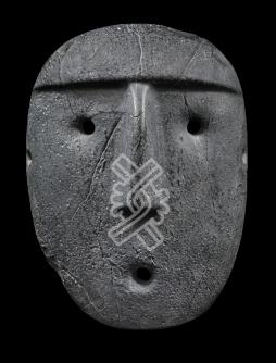 Mask of a human face